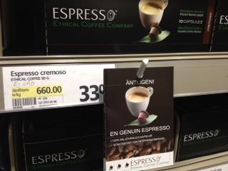 Nespresso-kompatibla kapslar ethical coffe company